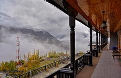 Hunza in Fog (Shehzaad Maroof Khan) Tags: travel autumn pakistan mist snow mountains fog clouds nikon view terrace valley karakoram peaks hunza karimabad beautifulpakistan gilgitbaltistan