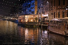 shiny atmosphere (_Nick Outdoor Photography_) Tags: milan lights canal hometown milano shining channel christmastime naviglio img1555 lumièresdenoël nickphotography