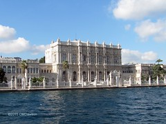 Dolmabahe Palace from Bosphorus 1 (Christopher M Dawson) Tags: travel building tourism architecture turkey ataturk istanbul palace international government sultan dawson turkish dolmabahe palace cmdawson 184356 2015 dolmabahe