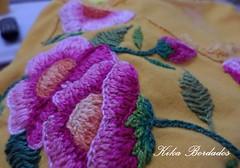KikaBordados Kika  Krauss 102 (Kika Bordados by Angelica Krauss) Tags: pink flowers flores handmade embroidery laranja crochet tshirt amarelo bordados manualidades croche embroider feitomo camisetabordada camisetabordadamo bordadosfeitomo kikabordadoskikakrauss