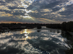 2016-01-01 take me to the river (Robert Couse-Baker) Tags: morning sky reflection water clouds river january sacramento newyearsday americanriver iphone americanriverparkway 2016 newbeginnings 366 3662016aleapoffaith 2016onephotoeachday