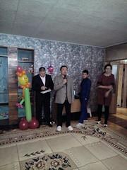 Mr Aidyn Aimbetov (third kazakh spaceman) congratulates with center opening (COCAFoundation) Tags: kazakhstan coca autism astana