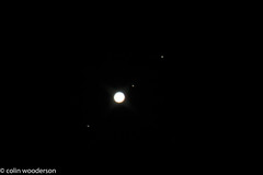 Jupiter and His Moons (raven fandango) Tags: uk england sky moon nature canon eos exposure january astro telescope astrophotography planet planets astronomy moons jupiter prodigy stevenage 130 astrology hertfordshire celestron herts 70d
