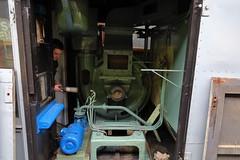 werkzaamheden aan de GVB Rr2. (remco2000) Tags: amsterdam groen blauw ema museumtram grijs rr2 gvb restauratie onderhoud stofzuiger waterpomp werkwagen opknappen railreiniger gvba retm electrische museumtramlijn 19141964 werkmotorwagen zuigmotor gvbrr2