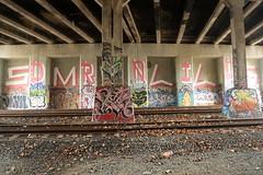 droid smells (Luna Park) Tags: nyc ny newyork brooklyn graffiti donut lunapark rollers droid smells trackside 907 free5 907crew
