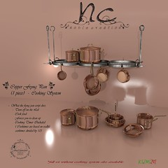 [NC] - Copper Frying Pan -  25L Tuesday (niki8901 - andycool90 , HQ & 100%Mesh Low Land Imp) Tags: decorations house home kitchen modern nc medieval sl pots fantasy secondlife rpg copper rp gdr cookware skillet roleplay 25ltuesday noblecreations niki8901 andycool90 furnires