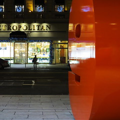 Midnight, Midtown, Manhattan (lotos_leo) Tags: street door light urban holiday ny newyork night outdoor manhattan streetphotography midtown midnight portal solow solowbuilding west57thstreet