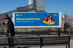 Spotify (Always Hand Paint) Tags: nyc blue building architecture brooklyn advertising outdoor online service ooh handpaint gowanus colossal complete thebeatles outdooradvertising spotify b180 colossalmedia onlineservice skyhighmurals alwayshandpaint