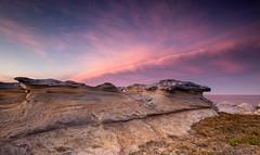 That day at Potter Point (David Marriott - Sydney) Tags: cloud sunrise point dawn sandstone au sydney potter australia shelf newsouthwales kurnell
