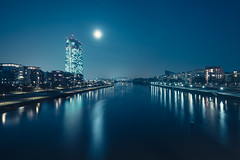 Blue Moon (_flowtation) Tags: city light streets night clouds reflections germany dark licht downtown hessen skyscrapers cathedral nacht dom frankfurt main bridges clear d750 fields lighttrails 20mm florian deutschebank banks museumsufer frankfurtammain commerzbank sparkasse paulskirche sachsenhausen mainriver ubs lightstreams messeturm maintower banken ezb d4 mainufer spiegelungen europeancentralbank dzb commerzbanktower lightstars deutschherrnbrcke leist downtownfrankfurt flowtation ignatzbubisbrcke nikond4 lightstar nikon20mmf18 museumsuferfrankfurt osthafenbrcke neweuropeancentralbank germanmenbridge fairtraidetower florianleist florianleistphotography florianleistfotografie flowtationde florianleistde nikond750