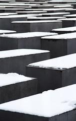 Memorial (ChiaraBright) Tags: snow berlin grey memorial remember
