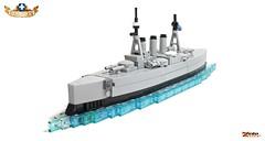 Θ\Κ Γ. Αβέρωφ (ZetoVince) Tags: vince zeto zetovince ship war cruiser battle armored navy greek military averof lego boat marine greece naval