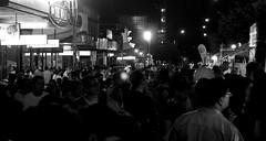 073 (sally_tregear) Tags: summer people blackandwhite streets festival night crowd melbourne chinesenewyear2016