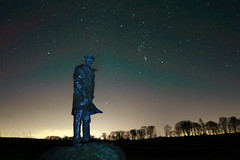 The David Stirling monument and Orion the Hunter (jonthepainter21) Tags: winter david monument statue canon triangle stirling hill row 7d sirius orion sas dunblane cls doune lecropt astronomik