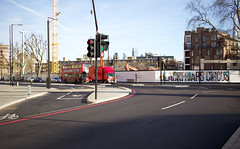 Blackfriars Circus - Southwark, London (SE9 London) Tags: uk winter england london bike st canon project cycling george construction highway britain circus united great january kingdom super cycle lane gb blackfriars scheme development georges superhighway southwark se1 lanes segregated