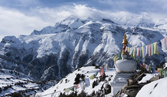Annapurna III (Nicolas Bourque) Tags: nepal winter cloud mountain snow trekking landscape hiking sony iii wideangle tibet summit annapurna braga rokinon a6000