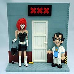 Leisure Suit Larry (vitreolum) Tags: lego vignette leisuresuitlarry vitreolum