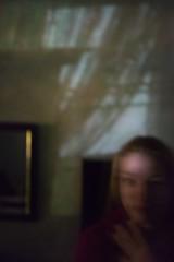 a bit of a dream... (f_lynx) Tags: shadow portrait black color eye girl face look wall lady night reflections dark fun shadows hand russia moscow curtain picture frame olga lowkey 2x3 flynx sonya7 sonyfe282