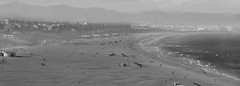 The end is near. (jame5heen) Tags: espaa blancoynegro beach valencia monochrome fog photography mono blackwhite noir grain playa grainy noise niebla grano malvarrosa ruido monocromtico canon600d canont3i