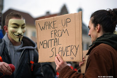 Wake up from mental slavery (Red Cathedral is alive) Tags: march mask cosplay sony protest guyfawkes streetphotography vforvendetta alpha banners anonymous gent resistance resist larp manifestation redcathedral gunpowderplot occupy a850 eventcoverage sonyalpha aztektv millionmaskmarch leftwingdemonstration opawakening