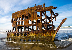 Peter Iredale Shipwreck Oregon's Pacific Coast (ultimateplaces) Tags: ocean blue sky beach graveyard clouds oregon coast sand iron waves ship state pacific northwest salt rusty vessel historic peter coastal shipwreck frame haul iredale