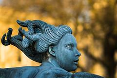 Trafalgar Square Fountain Statue (Olympus OMD EM5II & mZuiko 75mm F1.8 Prime) (markdbaynham) Tags: city urban london westminster square prime capital trafalgar evil olympus metropolis f18 omd csc oly mz 75mm londoner londonist m43 zd mft mirrorless micro43 microfourthirds micro43rd mzuiko m43rd em5ii zuikolic