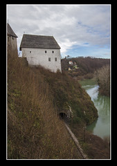 From The Old To The New (Igor Letilovic) Tags: railroad castle water canon river hill croatia knights grad kupa voda hrvatska rijeka brdo pruga 600d dvorac ozalj vitezovi
