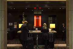 Front desk reception (A. Wee) Tags: germany hotel europe lobby reception lemeridien     stuttgart