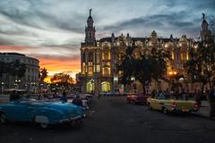Great Theatre of Havana at sunset (PaulHoo) Tags: light sunset sky urban sun building classic car architecture evening nikon cityscape theatre great havana cuba illumination illuminated hdr lightroom d700