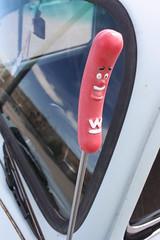 wienershnitzel hot dog guy (EllenJo) Tags: 1969 car vw vintage volkswagen beetle az canonrebel 1970 digitalimage verdevalley yearunknown clarkdalearizona ellenjo ellenjoroberts hc355 alaskanplates