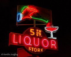 5th St Liquor. 2013 (Aztravelgrl (Sandra Jungling)) Tags: usa signs lasvegas nevada vintagesigns vintageneon