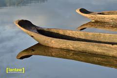 Lake Seloton Canoe Reflections (lantaw.com) Tags: lake dailylife lakesebu dugoutcanoe tboli southcotabato lakeseloton