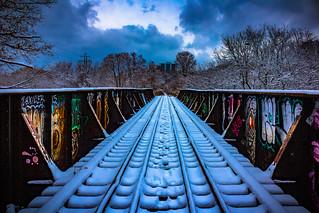 Bridge Over The Don River - Winter