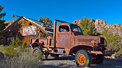02468848-73-Old Rusty Truck in the Mojave Desert-1-HDR (Jim would like to get on Explore this year) Tags: usa sign america truck nevada rusty wideangle places nelson ghosttown cocacola mojavedesert eldoradocanyon nearlasvegas canon5dmarkiii canonef1635mmf4lisusmlins