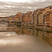 Ponte Vecchio reflecting in the Arno River (From the West)