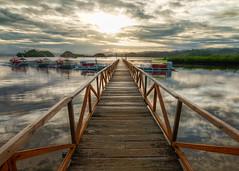 La Entrada Walkway (allansoul) Tags: bridge sunset sea vacation sun beach boats view philippines views ultrawide hdr surigao sanagustin photomatix surigaodelsur tokina1116 surigaosur allansoul labritania
