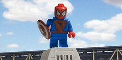 Hey everyone! (hachiroku24) Tags: america movie airport war comic lego hey spiderman civil captain superhero shield everyone trailer superheroes marvel