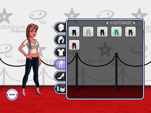 Kim Kardashian: Hollywood Profile & Avatar, Upgrades: screenshots, UI