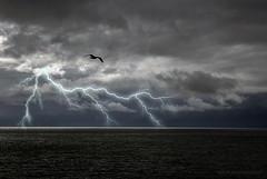 Temporale sul mare (Borgo Armonico) Tags: nuvole mare cielo temporale fulmine