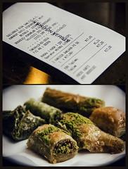 The original (Melissa Maples) Tags: food caf turkey dessert restaurant nikon diptych asia text trkiye istanbul receipt sweets nikkor vr afs baklava  karaky trke 18200mm  f3556g gllolu  18200mmf3556g multipanel d5100