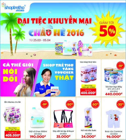 Khuyến mại chào hè – Shop Trẻ Thơ tặng 1000 voucher miễn phí