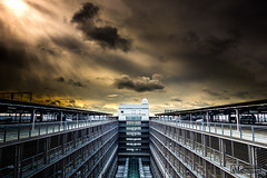 Parkdeck (AndreasTimm_Photography) Tags: sky architecture germany munich airport muc carpark drama hdr parkdeck