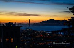 Sunset in San Francisco (Francesco Patroncini Photography) Tags: sanfrancisco california city sunset sea usa water clouds america nikon tramonto cityscape colours roadtrip urbanphotography nikond90