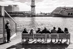 Sold out (David Martn Lpez) Tags: barcelona street people blackandwhite blancoynegro bench calle gente banco davidmartinlopez