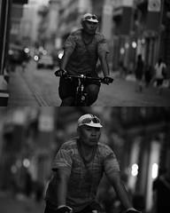 [La Mia Città][Pedala] (Urca) Tags: portrait blackandwhite bw bike bicycle italia milano bn ciclista biancoenero bicicletta 2015 pedalare dittico ritrattostradale 798343