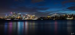 Sydney city reflection (FPL_2015) Tags: night reflections cityscape nightscape sydney australia nsw operahouse harbourbridge canon6d sigmaart35mm