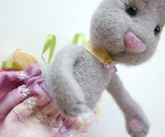Bella Bunny by Beneath the Rowan Tree (BeneathTheRowanTree) Tags: rabbit bunny wool felted toy doll handmade silk handdyed