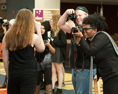College of DuPage, Willowbrook High School Students Work the Camera at 'Paint It Black' 2016 69 (COD Newsroom) Tags: usa students portraits photography illinois university photoshoot models posing glenellyn cameras backdrop communitycollege collaboration academics curriculum paintitblack highereducation collegeofdupage willowbrookhighschool mcaninchartscenter dualcredit terryvitacco