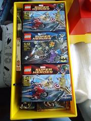 Super Heroes Marvel / DC Comics Lego (beudoing) Tags: man america comics dc iron lego super collection captain batman heroes marvel catwoman