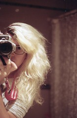 Selfportrait (ojosideral) Tags: portrait woman house selfportrait film argentina analog canon kodak analogue selfie analogic analogico